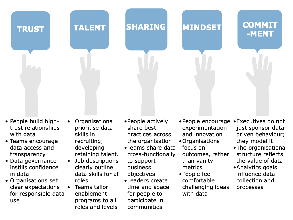 5 pillars data-centric culture